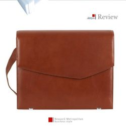 [AAron livin] Leather Messenger Bagbrief 메신져백