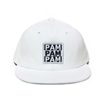 3PAM LEATHER SNAP BACK-WHITE