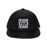 3PAM LEATHER SNAP BACK-BLACK