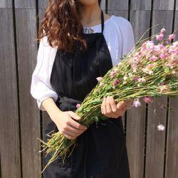 린넨 셔링 에이프런 : linen shirring apron [3color]