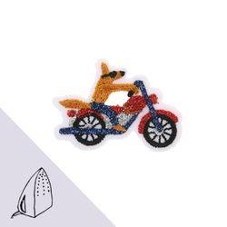 [Macon&Lesquoy] 마콩 자수패치_자전거 탄 코요테