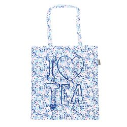 [Talented] I LOVE TEA (BLUE) FLAT TOTE