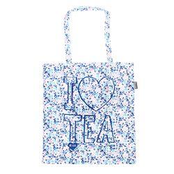 [Talented] I LOVE TEA (BLUE) FLAT TOTE