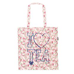 [Talented] I LOVE TEA (PINK) FLAT TOTE