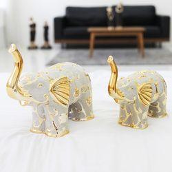 데일리데코 골드 코끼리 세라믹 인테리어 장식