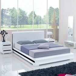 라운드 하이그로시 퀸 침대-블랙