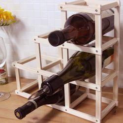 접이식 우드 와인 거치대 -6홀