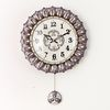 초롱꽃 저소음벽시계 보라(ksp028)