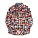 CRAZY PATCHWORK SHIRTS RED&NAVY