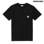 바리케이트 포인트 포켓 티셔츠 - 블랙