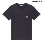 바리케이트 포인트 포켓 티셔츠 - 챠콜