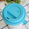 [온테이블]가든스트로우캡블루-에코컵 실리콘빨대뚜껑