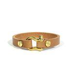 solid brass bracelet [light brown]
