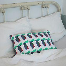 cyan cushion