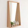 [바이빔]안느 원목 선반 거울-에쉬나무