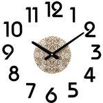 [브론즈하우스]IAC-032-C08패턴DIY못없는벽시계-무소