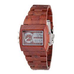 [비웰]Bewell The Frank (Red Brown) 우드손목시계