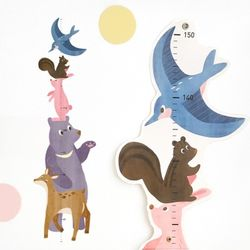 코니테일 키재기 포스터 - 동물친구들(키재기자)