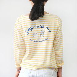 HelloGeeks Stripe top - yellow