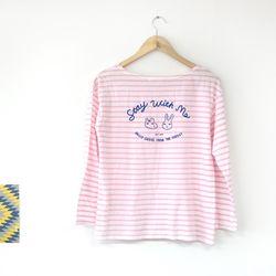 HelloGeeks Stripe top - pink