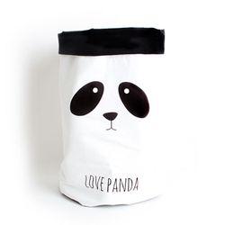 패브릭 장난감 수납 - PANDA LOVE