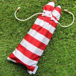 (보틀 파우치) Stripe Red Bunny