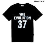 바리케이트 바인 에볼루션 티셔츠 - 블랙