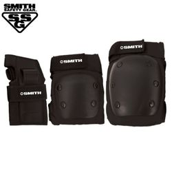 [SMITH] ADULT 3-PACK SAFETY GEAR SET Black