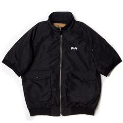Short sleeve windbreaker(BLACK)