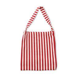 EASY STRIPE BAG RED 이지 스트라이프 에코백 레드