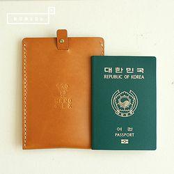 [천연소가죽] 슬라이드 여권케이스(골든로드)