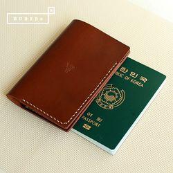 [천연소가죽] 베이직 여권 커버(딥쵸콜릿)