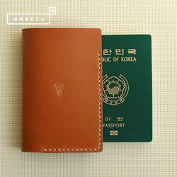 [천연소가죽] 베이직 여권 커버(골든로드)