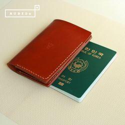 [천연소가죽] 베이직 여권 커버(오렌지브라운)
