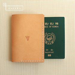 [천연소가죽] 베이직 여권 커버(탠드베이지)