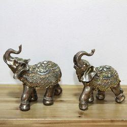 데일리데코 엔틱 코끼리 장식 2개 1세트