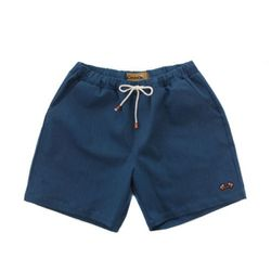 COTTON SPAN SHORT PANTS(blue-green denim)