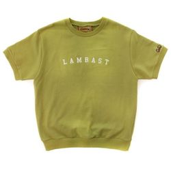 SHORT SLEEVE COTTON CREWNECK(MUSTARD)