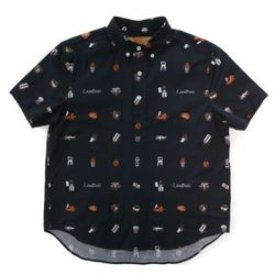 LIFE SHORT SLEEVE COTTON SHIRT(VINTAGE BLACK)