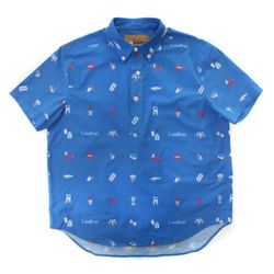 LIFE SHORT SLEEVE COTTON SHIRT(ROYAL BLUE)