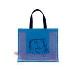 3COLOR MESH BAG SMALL (BLUE)