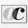 메탈 모던 거실 인테리어 포스터 대형 액자 알파벳 oc