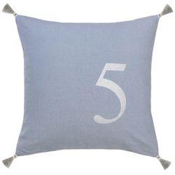 Cushion tassel-blue