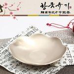 [한국유기] 꽃접시 - 소