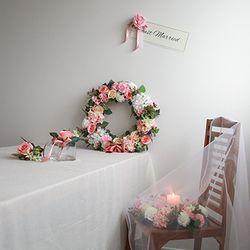 실크플라워 웨딩카장식-봄의정원