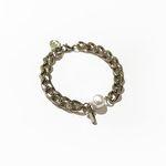 bpb chain pearl cross bracelet