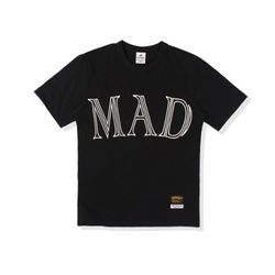 470g mad needlework tee-black-