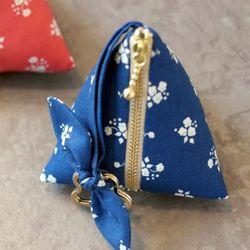 (DIY) 리본 삼각 파우치 블루 ribbon tringular pouch
