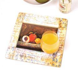 하우스케어 코르크 테이블매트 (중) 1P -과일