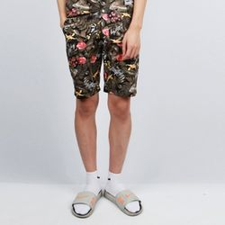 FLOWER SHORTS PT [BK]